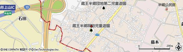 山形県山形市蔵王半郷(岡田)周辺の地図