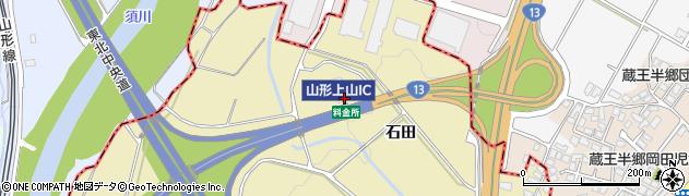 山形県上山市金瓶245周辺の地図