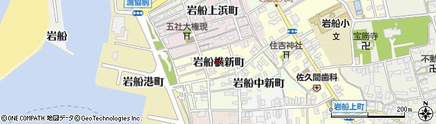新潟県村上市岩船横新町周辺の地図