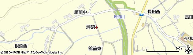 宮城県仙台市太白区坪沼(舘)周辺の地図