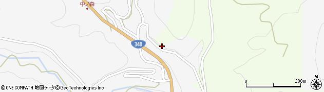 山形県上山市小白府中ノ森198周辺の地図