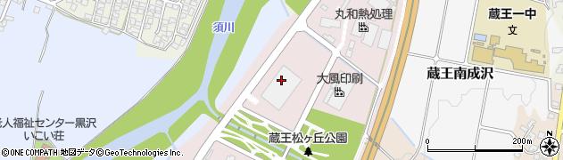 山形県山形市蔵王松ケ丘周辺の地図