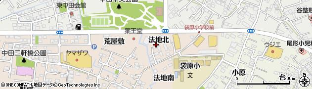 宮城県仙台市太白区中田町(法地北)周辺の地図