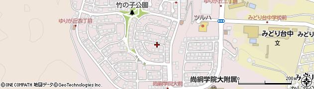 宮城県名取市ゆりが丘周辺の地図