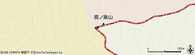 鷹ノ巣山周辺の地図
