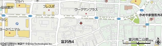 宮城県仙台市太白区富沢(川前浦)周辺の地図