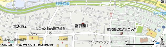 宮城県仙台市太白区富沢(舘)周辺の地図