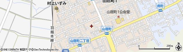 新潟県村上市山居町周辺の地図