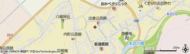 山形県山形市長谷堂周辺の地図