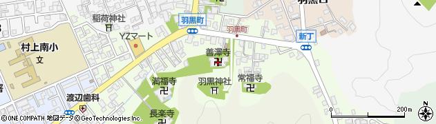 善沢寺周辺の地図