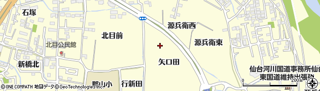 宮城県仙台市太白区郡山(矢口田)周辺の地図