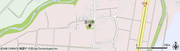 念力寺周辺の地図