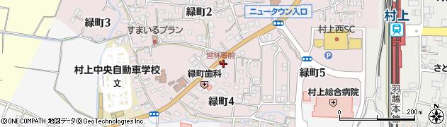 新潟県村上市緑町周辺の地図