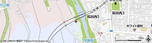 山形県山形市蔵王桜田周辺の地図