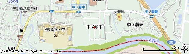 宮城県仙台市太白区茂庭(中ノ瀬中)周辺の地図