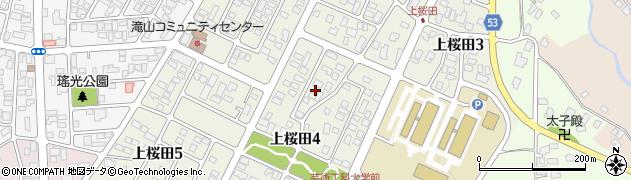 山形県山形市上桜田周辺の地図