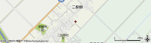 山形県山形市二位田周辺の地図