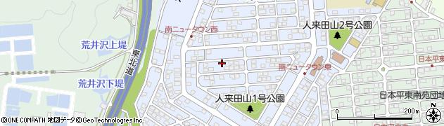 宮城県仙台市太白区人来田周辺の地図