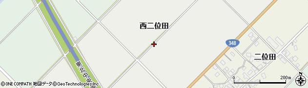 山形県山形市西二位田周辺の地図