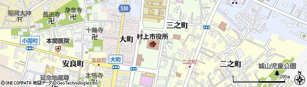 新潟県村上市周辺の地図