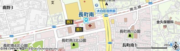 宮城県仙台市太白区周辺の地図