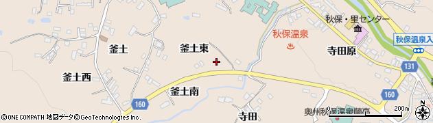 宮城県仙台市太白区秋保町湯元(釜土東)周辺の地図