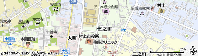 新潟県村上市三之町周辺の地図