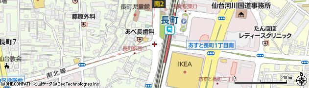 長町駅前周辺の地図