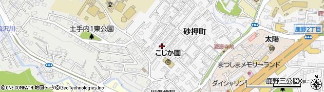 宮城県仙台市太白区砂押町周辺の地図