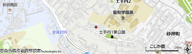 宮城県仙台市太白区土手内周辺の地図