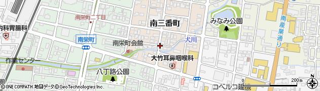 山形県山形市南三番町周辺の地図
