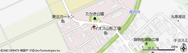 山形県山形市高木周辺の地図