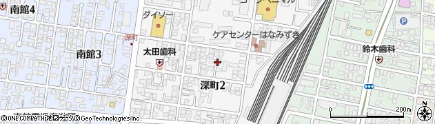 山形県山形市深町周辺の地図