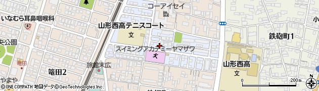 山形県山形市末広町周辺の地図