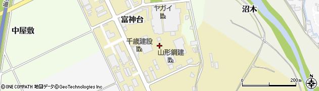 山形県山形市富神台周辺の地図
