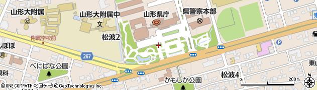 山形県山形市松波周辺の地図