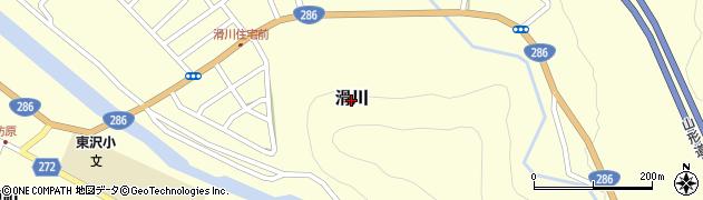 山形県山形市滑川周辺の地図