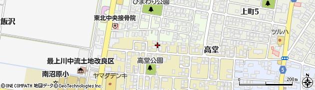 山形県山形市高堂周辺の地図