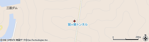 鷲ケ巣トンネル周辺の地図