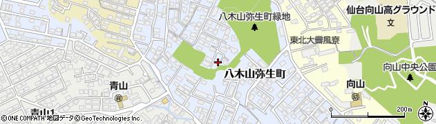 宮城県仙台市太白区八木山弥生町周辺の地図