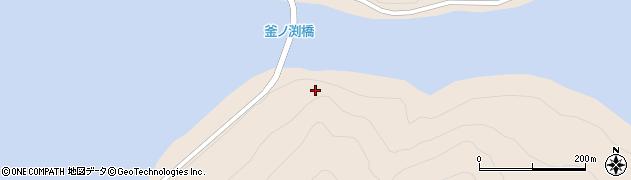 三面川周辺の地図