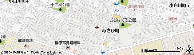 山形県山形市あさひ町周辺の地図