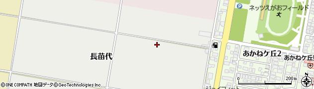 山形県山形市長苗代周辺の地図