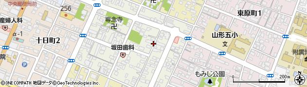 山形県山形市小姓町周辺の地図