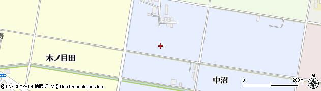 山形県山形市中沼周辺の地図