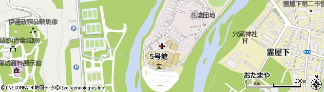 宮城県仙台市青葉区花壇周辺の地図