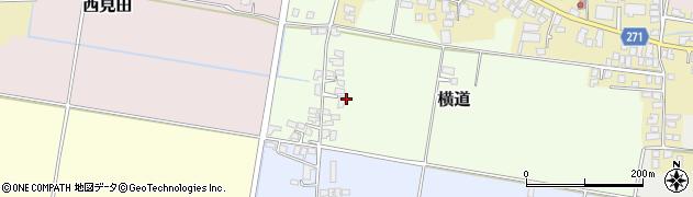 山形県山形市横道周辺の地図