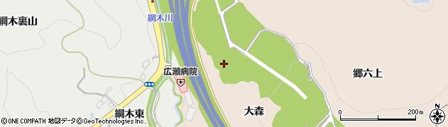宮城県仙台市青葉区郷六(大森)周辺の地図