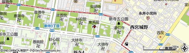東秀院周辺の地図