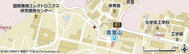 宮城県仙台市青葉区荒巻(青葉)周辺の地図